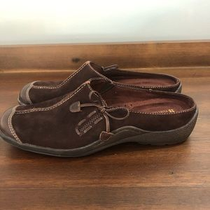 Naturalizer 6M Mules Brown Leather slip on Shoes